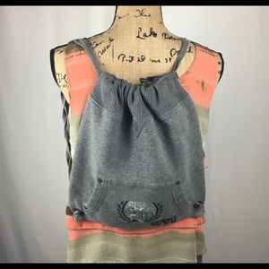 GAP Gray Sweatshirt Fabric Cloth Backpack